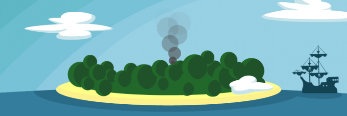 Front-end Island Rising Smoke