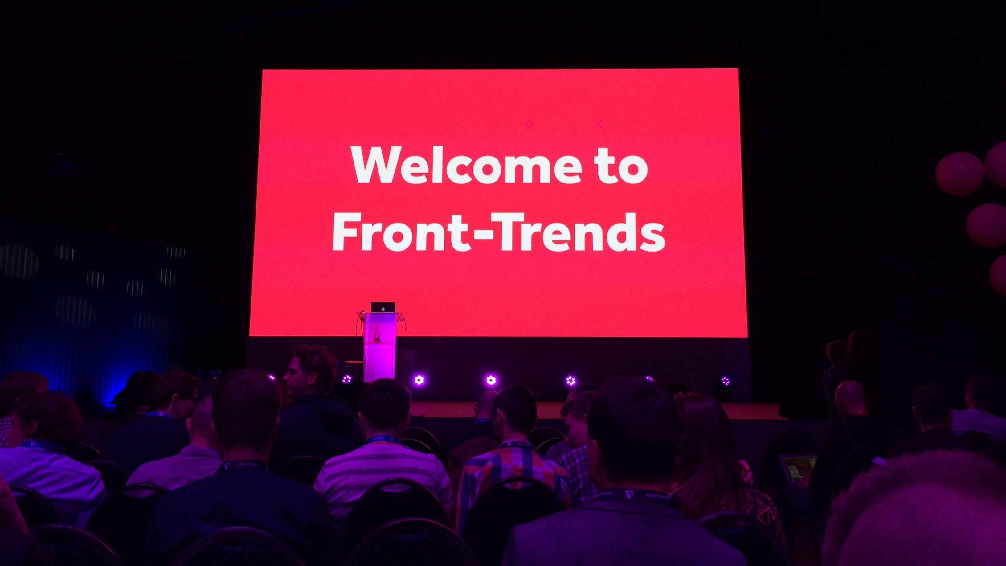 Front-Trends 2017 conference screen